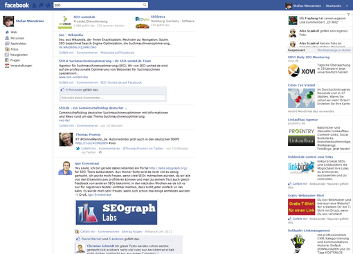 Facebook Suchmaschine